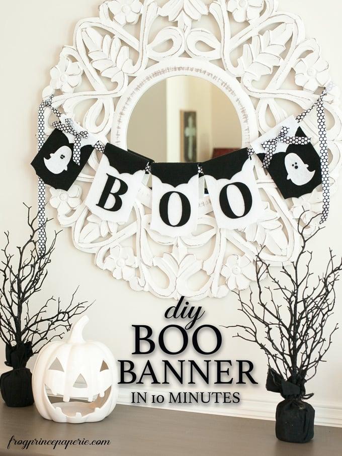 DIY felt Boo Banner made with the Cricut Maker