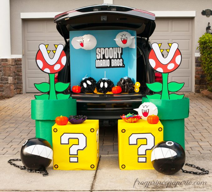 mario brothers trunk  treat ideas frog prince paperie