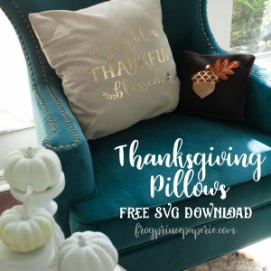 Easy Thanksgiving Pillows with Cricut EasyPress