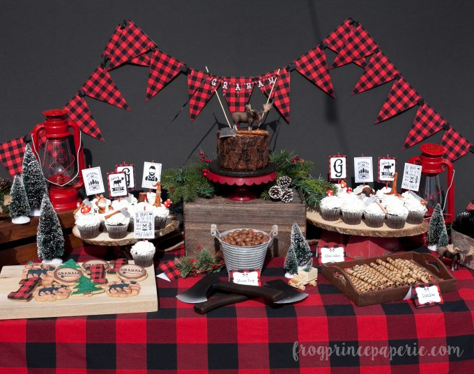 Little lumberjack first birthday party