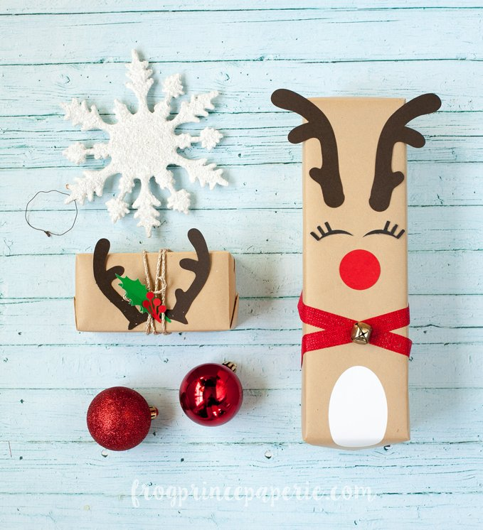 Rudolph reindeer Christmas gift wrapping