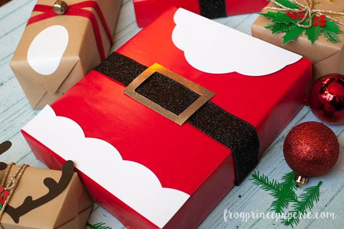 this is a completely free project file you can use hot glue or tape for assembly for a little variation on the santa theme take your red wrapped box and
