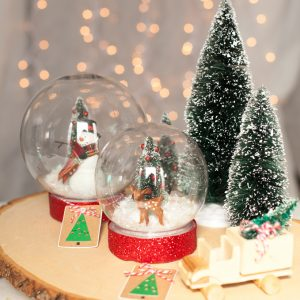 DIY Snow Globe for Christmas with Krazy Glue