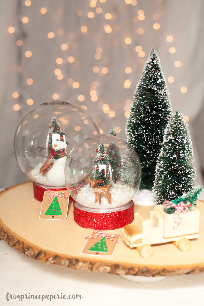 diy snow globe for christmas with krazy glue frog prince paperie