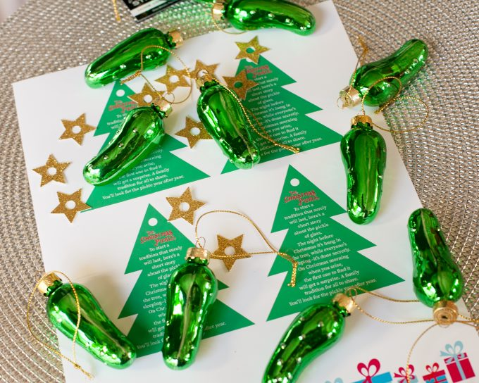 This is a graphic of Eloquent Christmas Pickle Story Printable