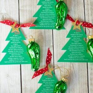 Christmas Pickle Ornament Free Printable