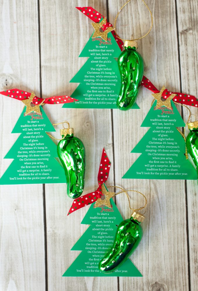 which is why this year im loving these christmas pickle ornaments sent to me by oriental trading
