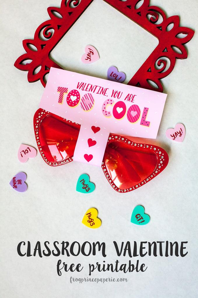 Free Printable Sunglass Valentine