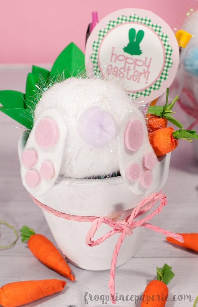 Bunny Butt Terra Cotta Pot Pen Holder Teacher Gift Idea