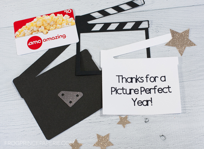 End of year teacher gift idea--movie tickets to use on summer break!