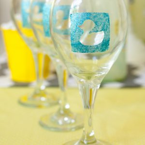 Duck Baby Shower DIY Personalized Wine Glasses