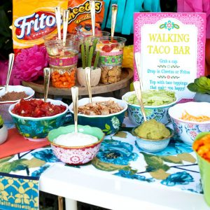 Walking Taco Bar Outdoor Party Idea