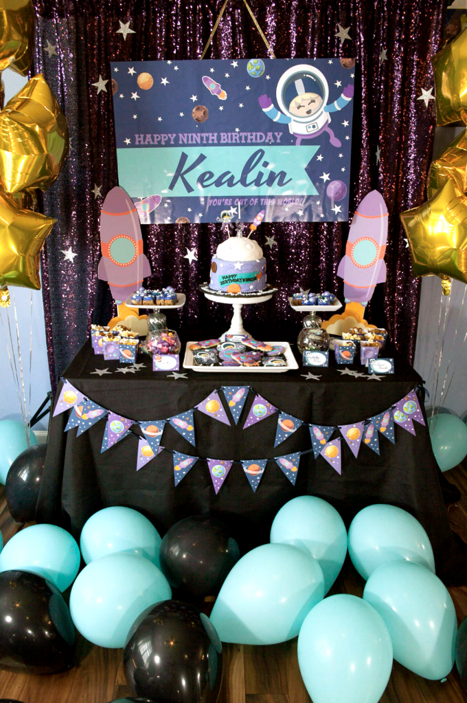 Kealins Space Birthday Party Was Thrown For Her And Ten Of Closest Friends An FYI Parties With Lots Intricate Projects Are MUCH Easier To Throw