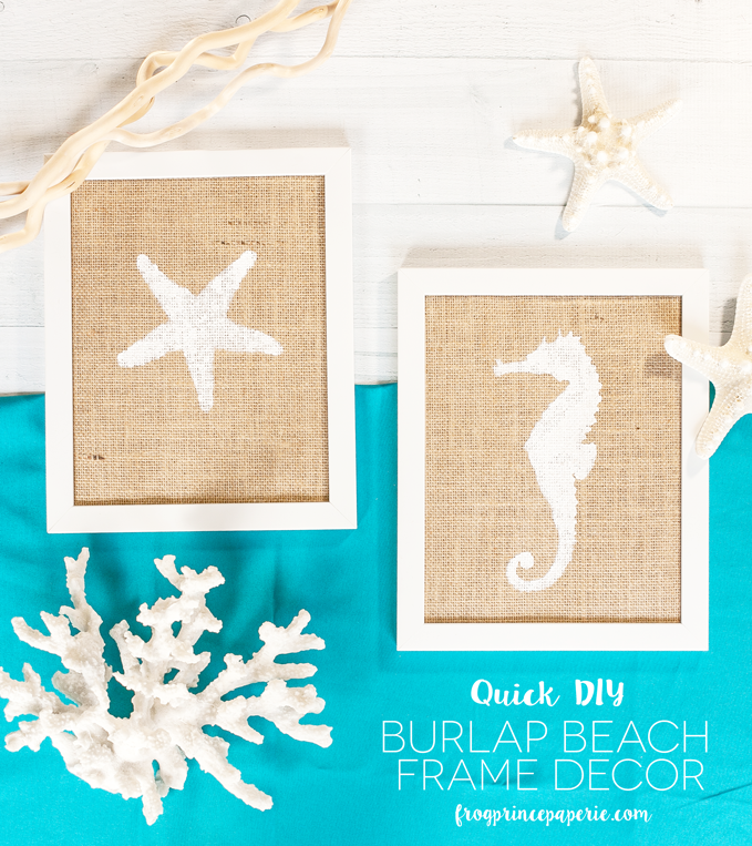 Quick Burlap Beach Decor Frame Craft