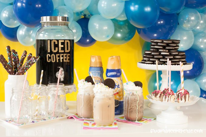 Iced coffee bar ideas for your next party!