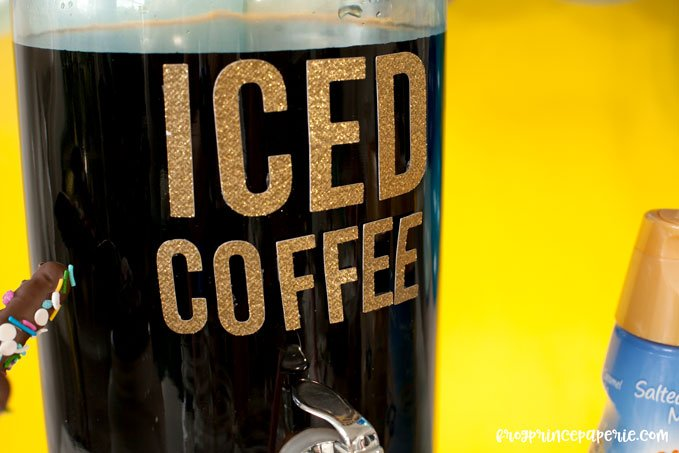 Iced coffee bar ideas for your next party--coffee being the most important part!