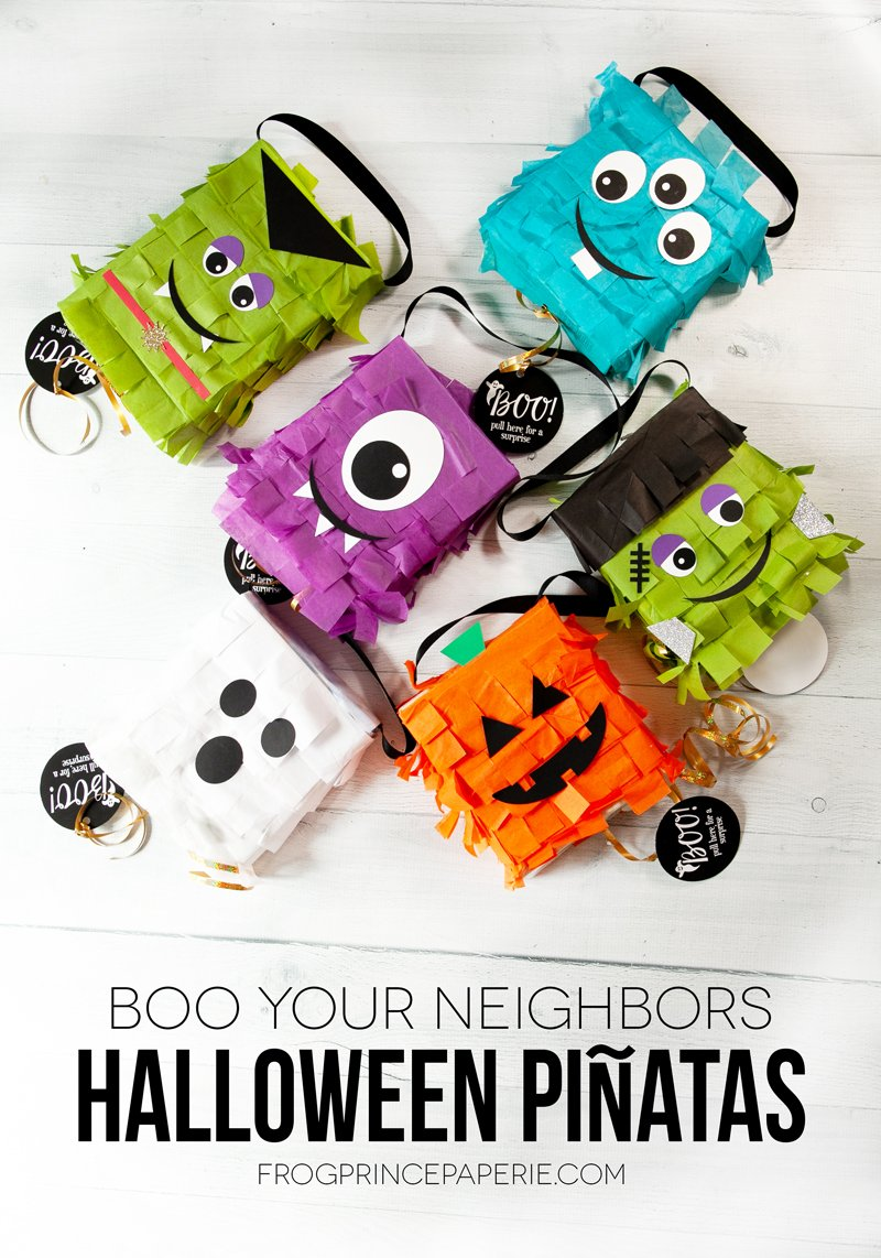 Boo Your Neighbors Halloween Piñata from Recyclables