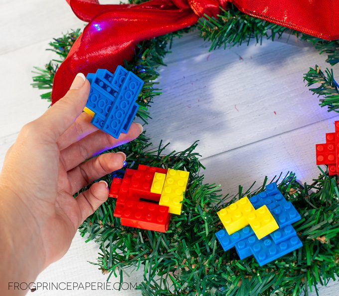 Command Strips Christmas Tree: Dollar Tree Christmas Craft: Kid's Lego Wreath