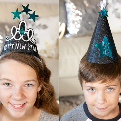 New Years Eve Party Hats with Cricut