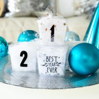 DIY Clear New Year's Eve Favor Boxes with Cricut