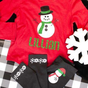 Preschool Christmas Shirt Snowman shirt