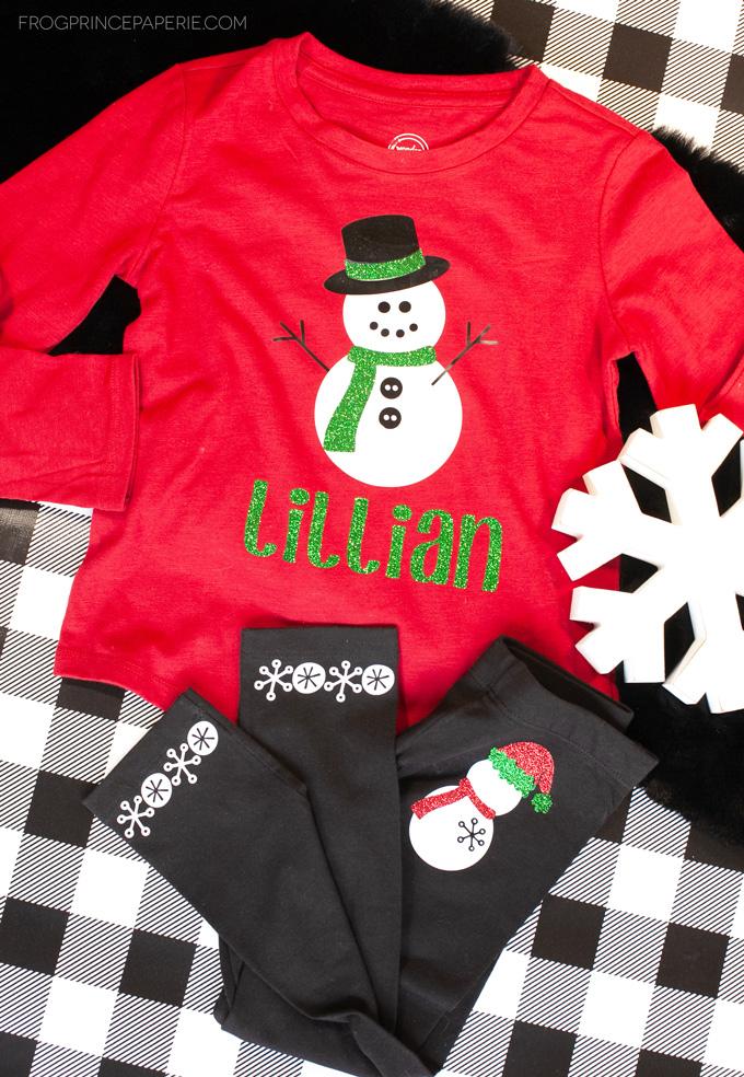 Preschooler Christmas Shirt: Snowmen!