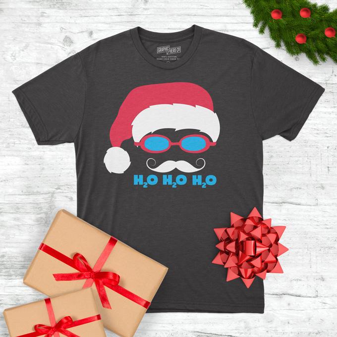 DIY Christmas Shirt for Swimmers – H2O H2O H2O!