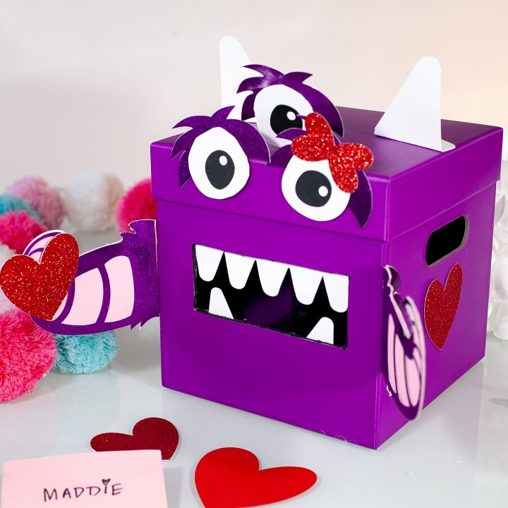 DIY Monster Valentine Box - Gertrude the Grumbly