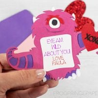 Monster Valentine Cards with Cricut