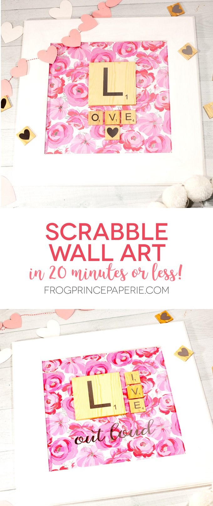 Make Scrabble wall art in less than 15 minutes! This Scrabble craft project is the perfect way to celebrate National Scrabble Day.