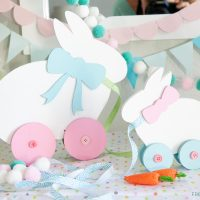 DIY Easter Decor: Pull Toy Bunny