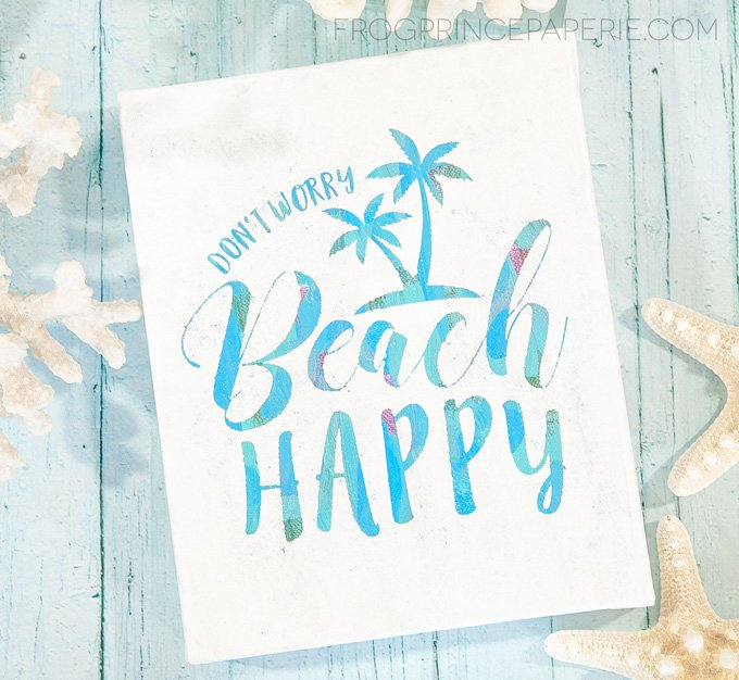 How to make a hot mess canvas for DIY beach decor
