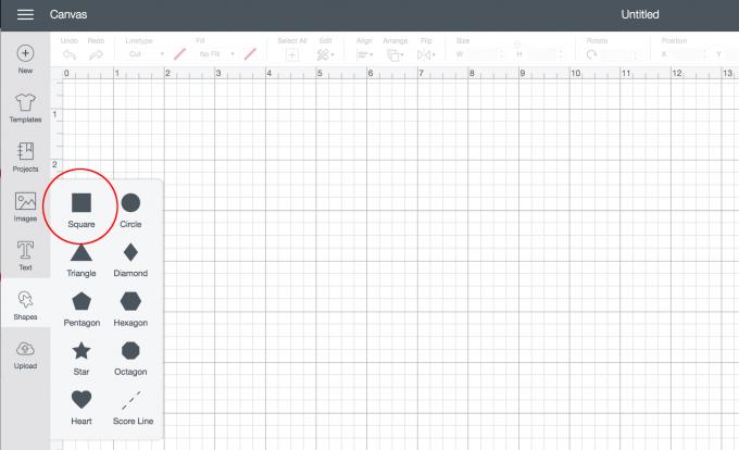 How to create a square in cricut design space.