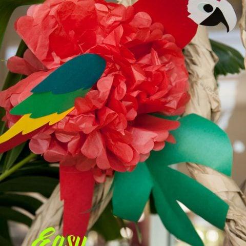 DIY Tissue Paper Parrot for Luau Parties