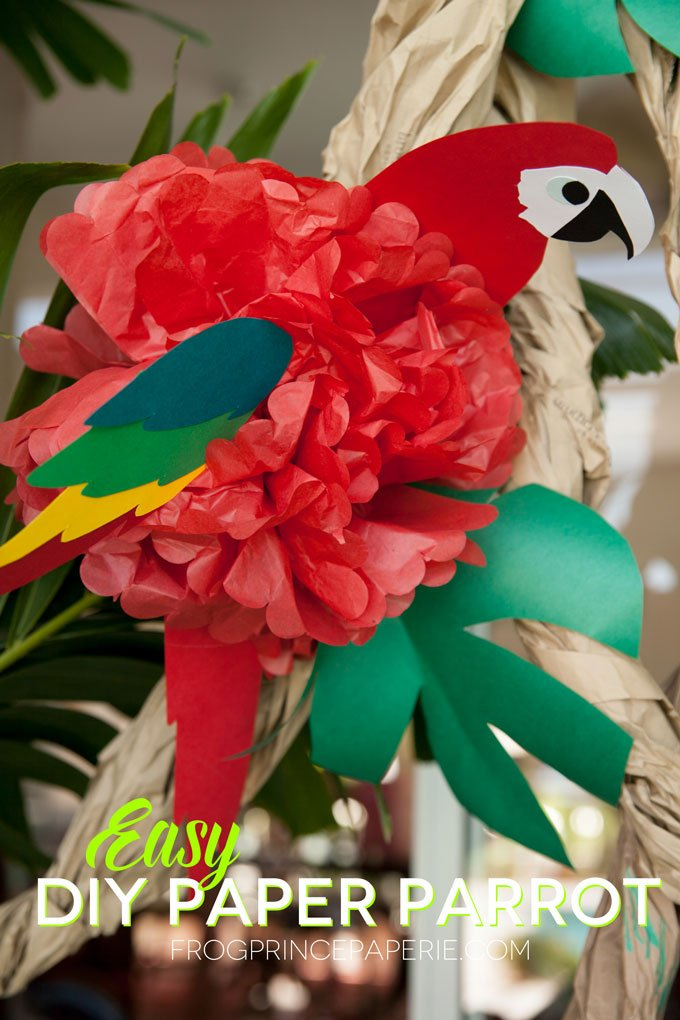How to make a DIY Tissue Paper Parrot for Luau Parties