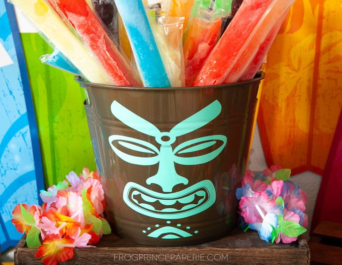 DIY tiki drink bucket for luau party ideas #luau #tiki