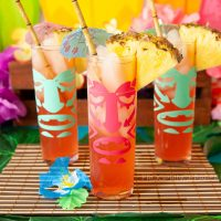 DIY Luau Tiki Glasses and Tiki Drink Buckets