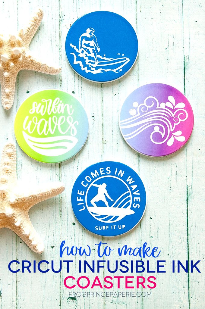 Look Like a Pro with Cricut Infusible Ink on Coasters