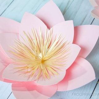 Paper Flower Hoop Wreath