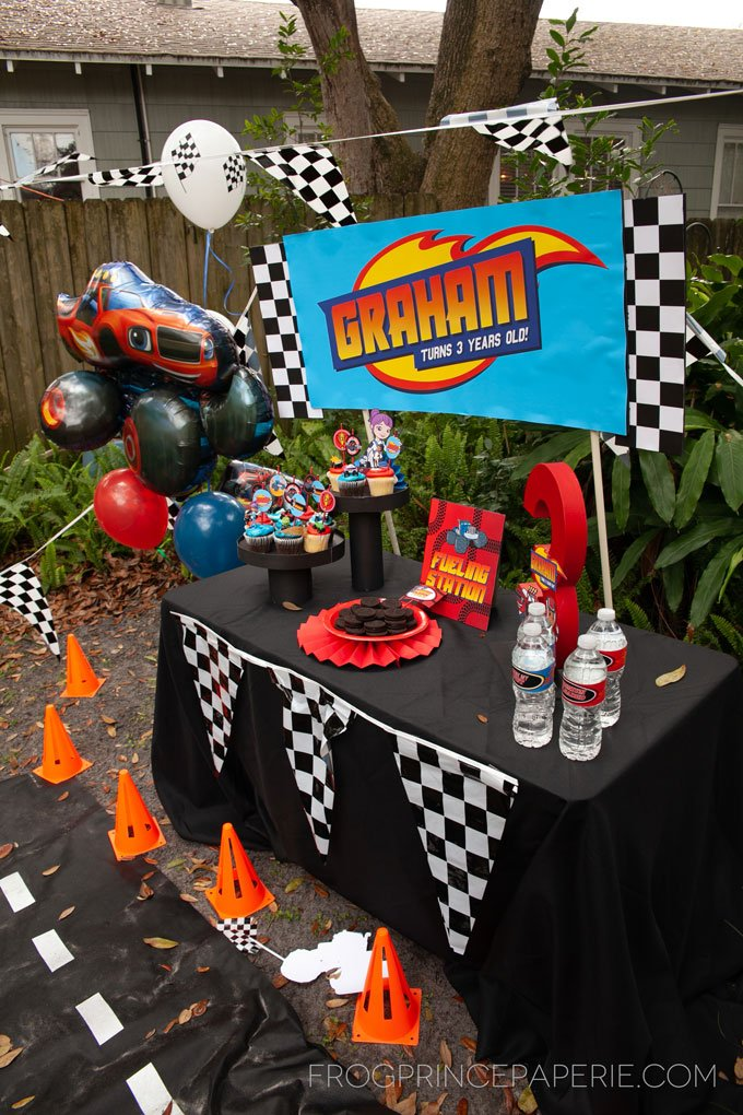 DIY Blaze and the Monster Machines Birthday Party Ideas