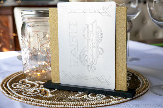 Art Deco Table Numbers Using The Cricut Maker Engraving Tool