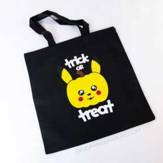 DIY Pikachu Trick-or-Treat Bag