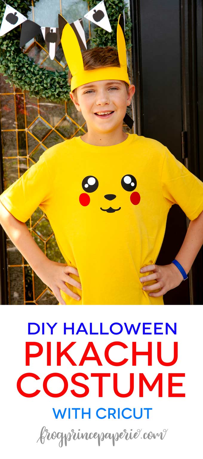DIY Pikachu Costume for a Pokemon Halloween with Cricut