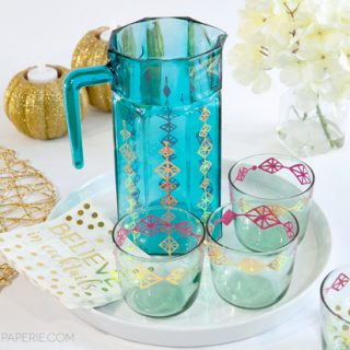 Retro Cocktail Pitcher and Glasses