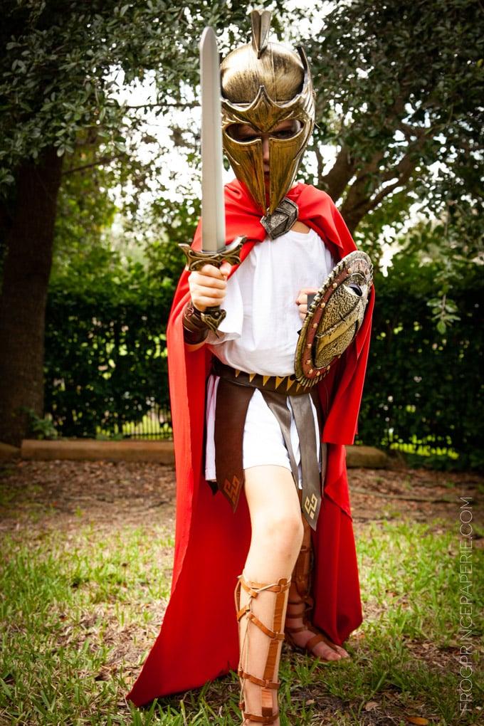 Spartan Warrior DIY Halloween Costume