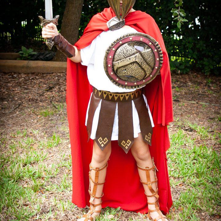 DIY Spartan Warrior Costume
