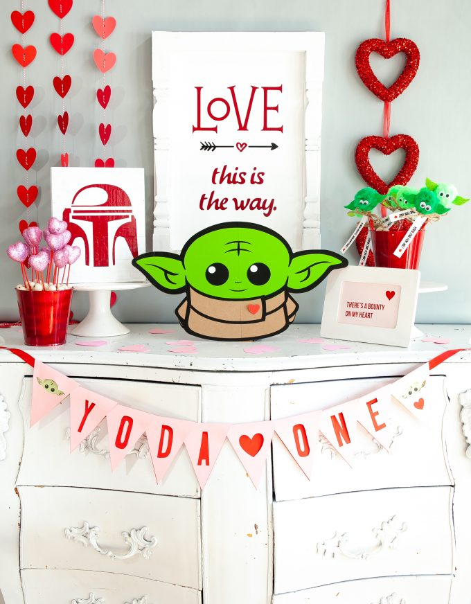 Throw a Baby Yoda themed Valentines Day Party!