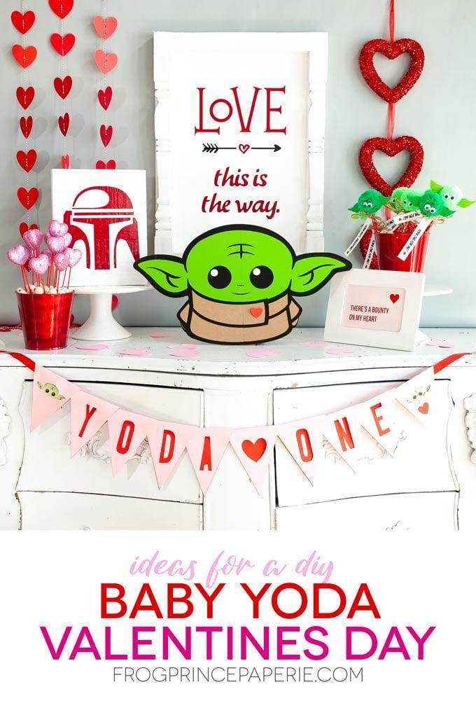 Baby Yoda Valentines Ideas with Cricut
