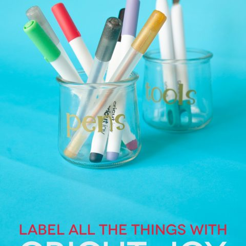 Make Vinyl Labels with the Cricut Joy
