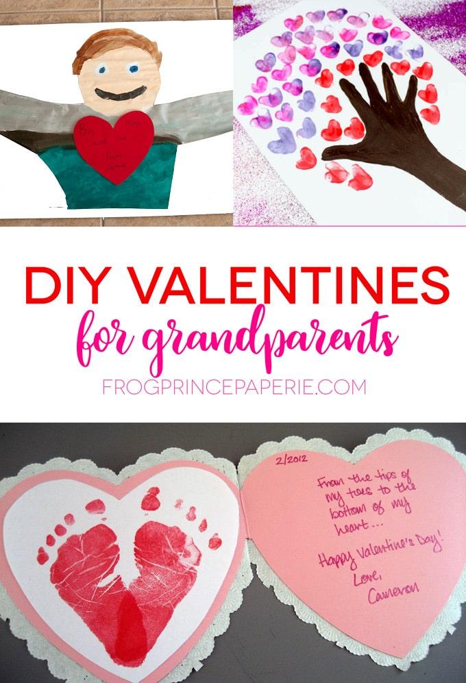 DIY Valentines to make for grandparents on Valentine's day